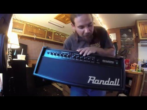 Musicians Friend Unboxing of Randall RX120RH Half Stack