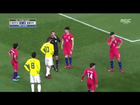 "James Rodriguez Diving | Edwin Cardona does ""slanted eyes"" gesture against South Korea [at 0:49]"