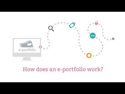 How does an e-portfolio work?