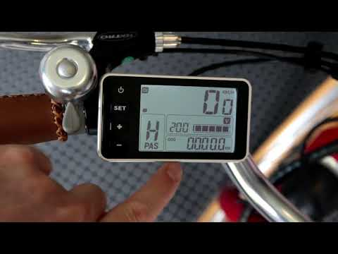 Dyson Bikes Tilba Electric Bike Display overview and operation instructions.