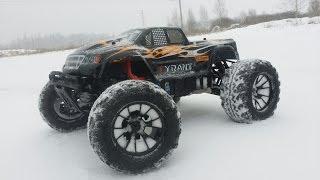 ТИРАН ... EM-Racing Tyrant 1/8 4WD Brushless RC Monster Truck(EM-Racing 1/8 2.4G 4WD Brushless RC Monster Truck Купить можно тут: http://goo.gl/9d8ddS Покупай ВЫГОДНО: https://goo.gl/01pY5b Почта для связи: ..., 2016-02-26T07:19:01.000Z)