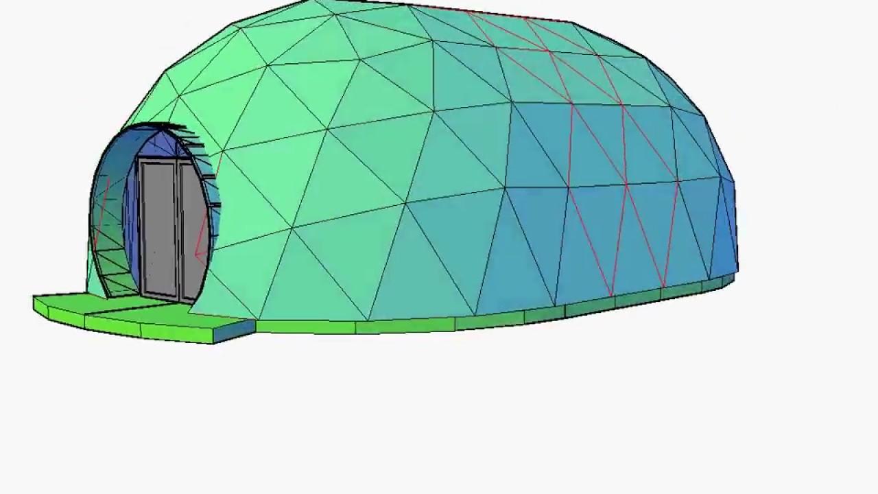 Tunel Dome for temporary Cinema - VikingDome