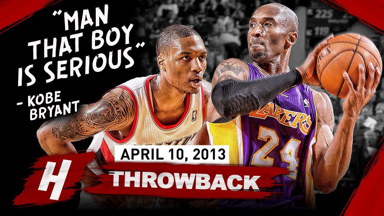 new product aff40 9fdeb The Game Rookie Damian Lillard SHOCKED Kobe Bryant 2013.04.10 - EPIC Duel  Highlights!