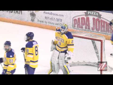 WCHA HOCKEY BOWLING GREEN FALCONS VS ALASKA NANOOKS 02 19 2016