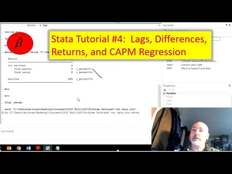 Stata Tutorial: Lags, Differences, Returns, And CAPM