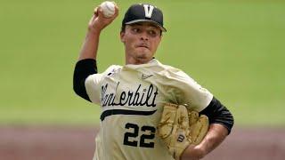 Jack Leiter Vanderbilt Highlights   Texas Rangers 1st Round Pick   2021 College Baseball Highlights