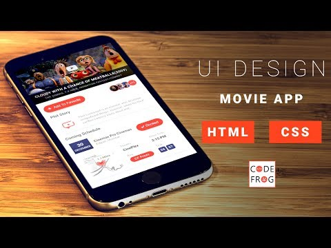 UI Design Tutorial - Movie App | HTML CSS Speed Coding