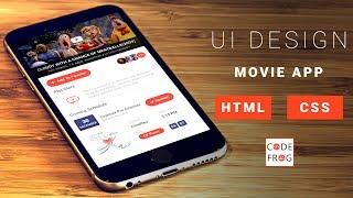 UI Design Tutorial - Movie App | HTML CSS Speed Coding