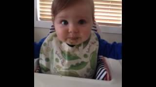 Baby doesn't like broccoli!