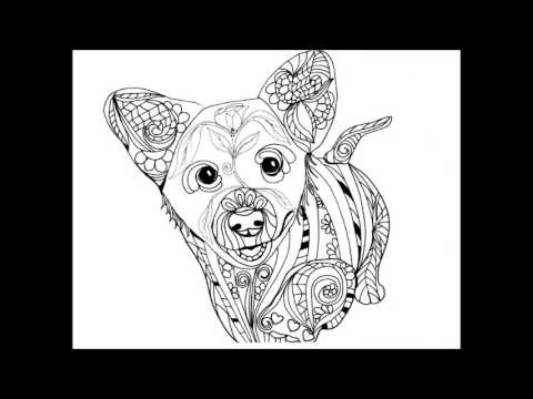 Love Dogs Vol 1 Coloring Book For Adults