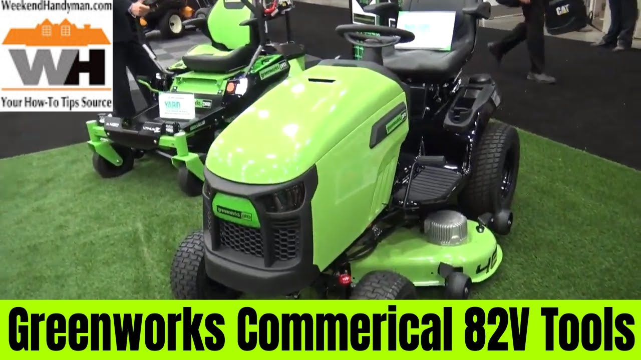Greenworks Commercial 82 Volt Professional Lawn and Outdoor Machines |  Weekend Handyman