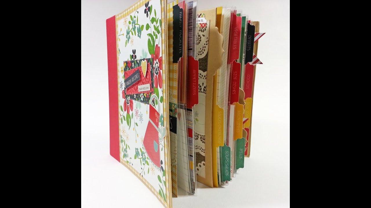 How to scrapbook a recipe book - Scrapbook Mini Album Made With Love Recipe Album
