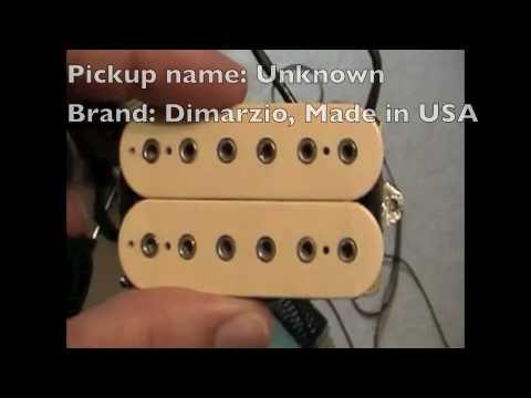 Dimarzio X2N and PAF pro VS stock pickups - Видео онлайн