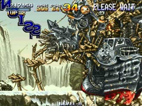 [Arcade] Metal Slug「メタルスラッグ」「 1 (1996) LEVEL-8 High Score」「ハイスコア」 (2.90m, 290万) All Stage play.