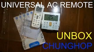 How to change F to C Chunghop Universal AC Remote K-650E