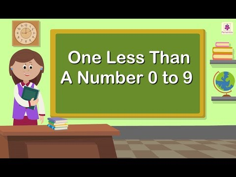 One Less Than A Number 0 to 9 | Maths Concept For Kids | Grade 1 ...