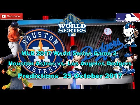 World Series 2017 Houston Astros vs. Los Angeles Dodgers MLB Game 2 Predictions MLB The Show 17