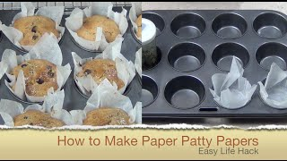 How to Make Paper Muffin Liners Easy Life Hack cheekyricho