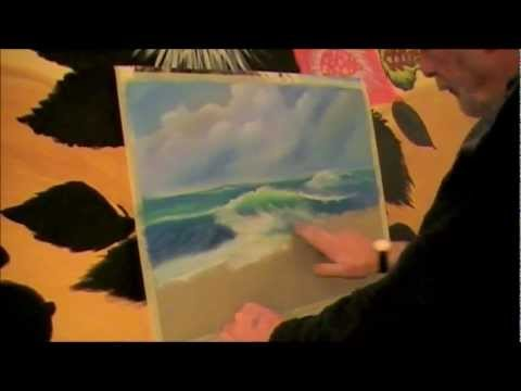 pastel painting meer