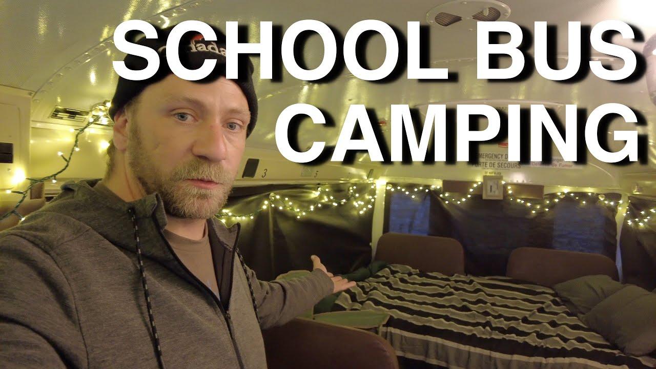 Simple Luxury School Bus Camping