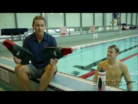 Swim workout using the Speedo Biofuse training fins