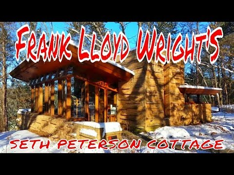 Frank Lloyd Wright's Amazing Seth Peterson Cottage!!