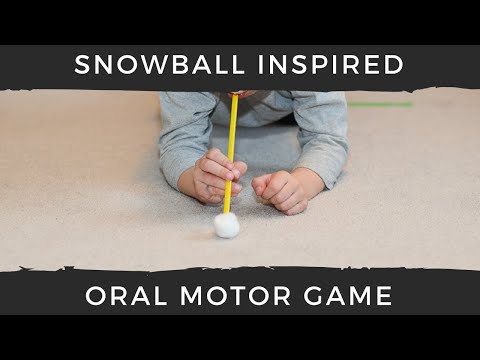 Snowball Oral Motor Sensory Game for Kids
