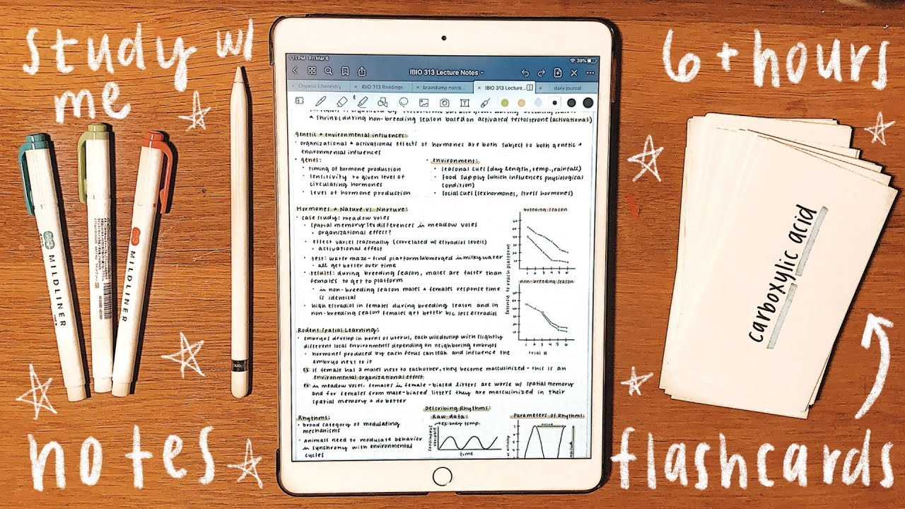 iPad Study with Me: 6+ Hours of Studying & iPad Note-Taking - Michigan State University
