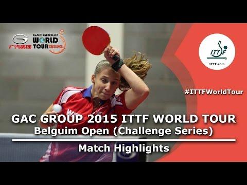 Belgium Open 2015 Highlights: MORET Rachel vs LOEUILLETTE Stephanie (Qual. Groups)