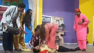 "stage drama Funny clip Eid play "" Saima Khan ' Shahid Khan ' Romantic song"