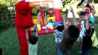 Bella dancing with Elmo at her 2nd B day party