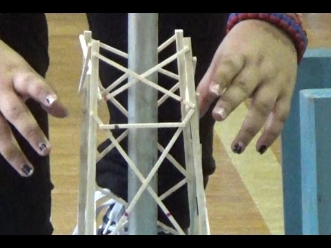 2017 Odyssey of the Mind balsa structure failure