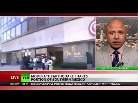 Earthquakes shake up southwest Mexico