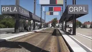 Jens im Einsatz heute, Straßenbahn Führerstandsmitfahrt von Bad Dürrenberg nach Halle Teil 2