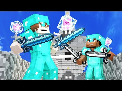 50 vs 2 FIGHTING AN ARMY! ULTIMATE WAR IN MINECRAFT!