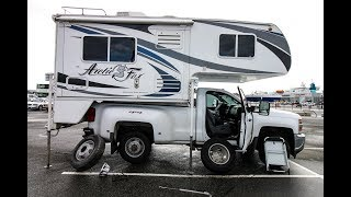How to Change a TRUCK CAMPER Tire ? | 1 Ton DUALLY TRUCK