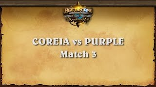 Coreia vs Purple - Match 3 - Hearthstone Americas Championship | Group A | Upper Bracket