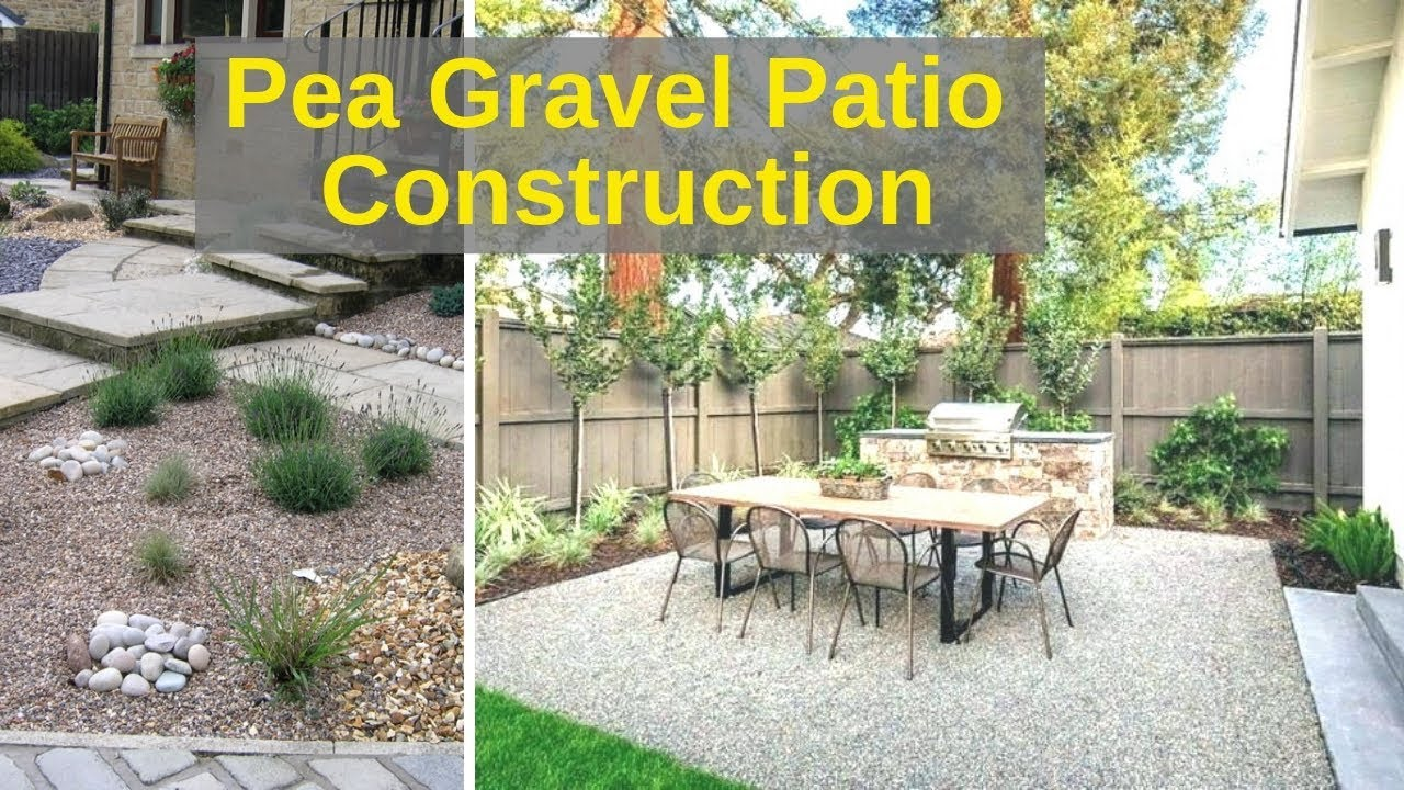 pea gravel patio for 100 in 4 hours time lapse