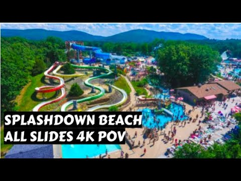 ALL WATERSLIDES At SplashDown Beach In Duchess County, NY