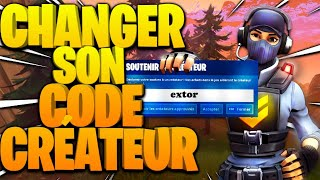 How to CHANGE your CREATOR CODE on Fortnite