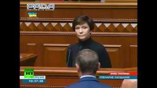 Турчинов потребовал от сторонницы Донбасса встать на колени