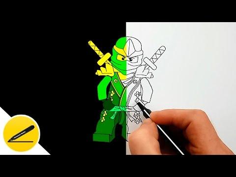 Рисуем ЛЕГО Ниндзяго | Ллойд Зеленый Ниндзя | Рисуем Картинки Лего Ниндзяго поэтапно