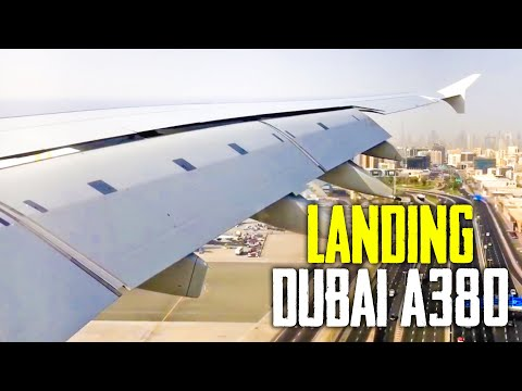 AMAZING A380 Landing At Dubai International Airport (DXB)- Emirates (HD) (60FPS)