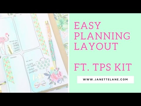 Easy Planner Layout Ft. June Planner Society Kit