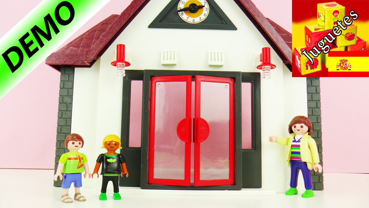 Escuela playmobil city life demo 1 youtube for Salle a manger playmobil city life