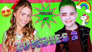 Disney ZOMBIES 2 Zed and Addison Dress Up and Pancake Art
