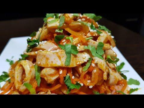 Нереально Вкусные Кальмары по-Корейски!!!