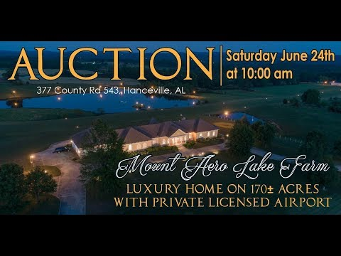 Mount Aero Lake Farm - Luxury Home /170± Acres /Licensed Private Airport Selling in 3 Tracts