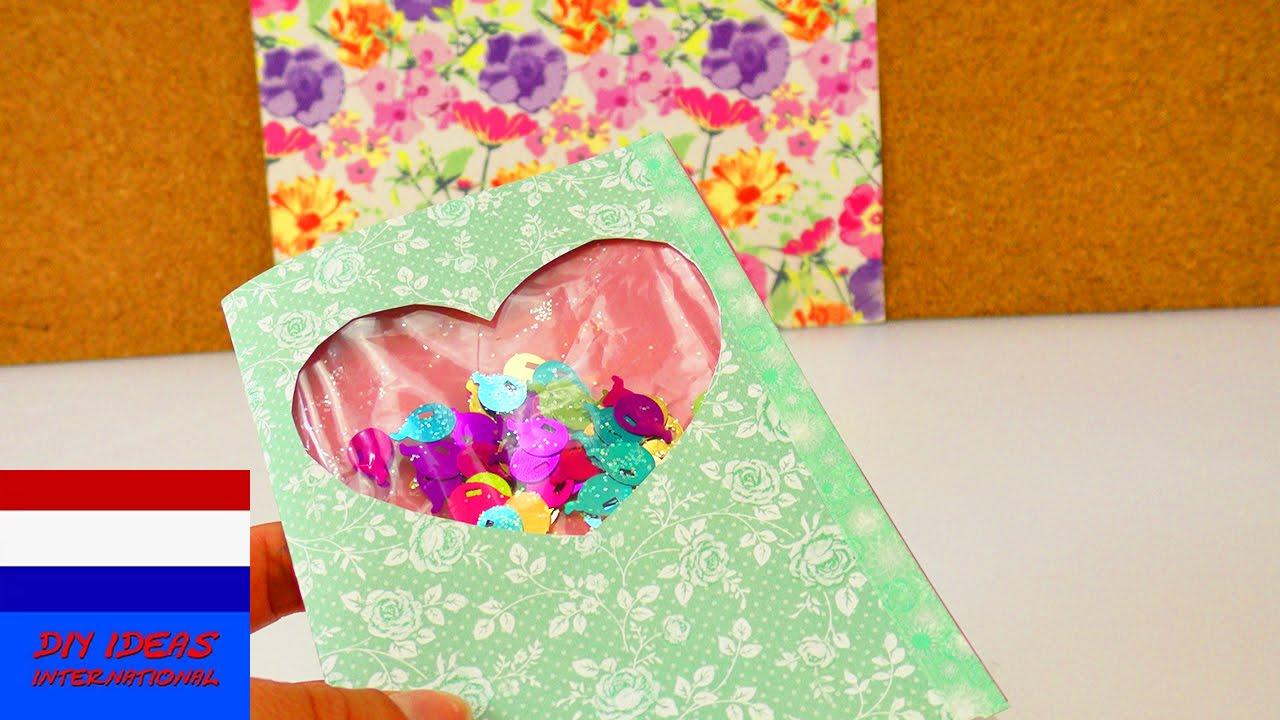 Iets Nieuws DIY kaart met confetti om te schudden | zelf verjaardagskaart met @XT71