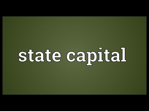 State capital Meaning